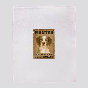"""Wanted"" Brittany Throw Blanket"