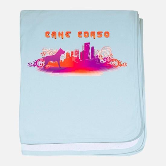 """City"" Cane Corso baby blanket"