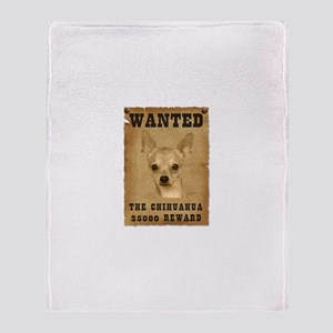 """Wanted"" Chihuahua Throw Blanket"