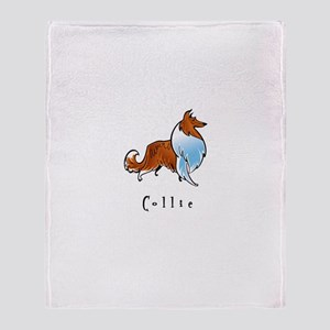 Collie Illustration Throw Blanket