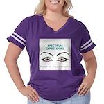 spectrumeye Women's Plus Size Football T-Shirt