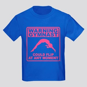Warning Gymnast Could Flip Kids Dark T-Shirt