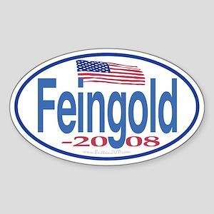 Feingold 2008 ButtonZUP Oval Sticker