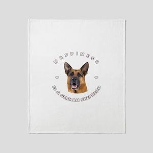 Happiness is a German Shepher Throw Blanket