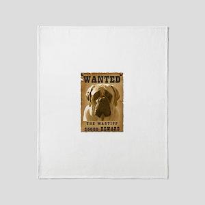 """""""Wanted"""" Mastiff Throw Blanket"""