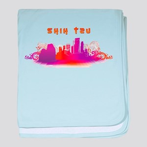 """""""City"""" Shih Tzu baby blanket"""