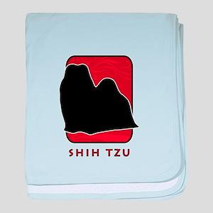 Shih Tzu baby blanket