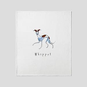 Whippet Illustration Throw Blanket
