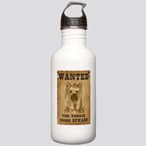 """""""Wanted"""" Yorkie Stainless Water Bottle 1.0L"""