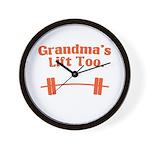 Grandma's lift too Wall Clock