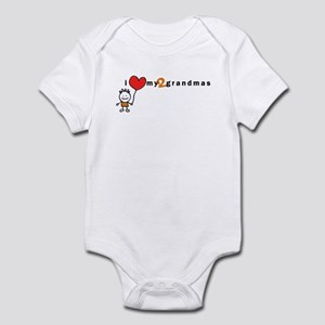 Infant Bodysuit (Boy) | i love my 2 grandmas