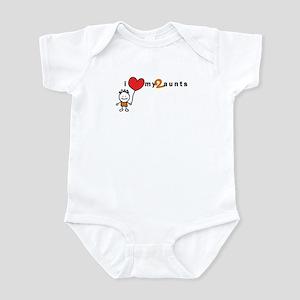 Infant Bodysuit (Boy) | i love my 2 aunts