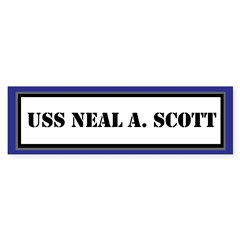 USS Neal A. Scott Sticker (Bumper)