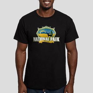 National Park Nerd Men's Fitted T-Shirt (dark)