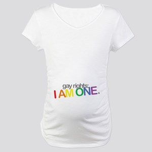 Maternity T-Shirt | gay rights: I AM ONE (Belly)