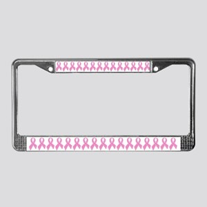 Pink Ribbon Jewels License Plate Frame