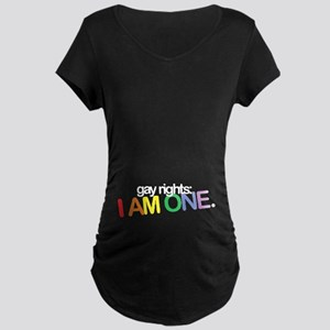 Maternity Dark T-Shirt | gay rights: I AM ONE