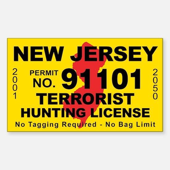 New Jersey Terrorist Hunting Decal