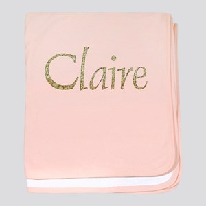 Claire Gold baby blanket