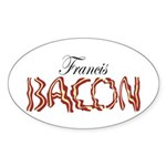 Francis Bacon Sticker (Oval 50 pk)