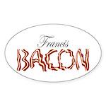 Francis Bacon Sticker (Oval)