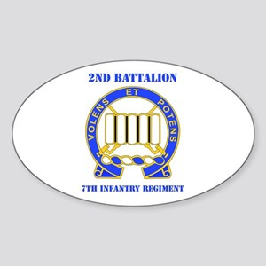 DUI - 2nd Bn - 7th Infantry Regt with Text Sticker