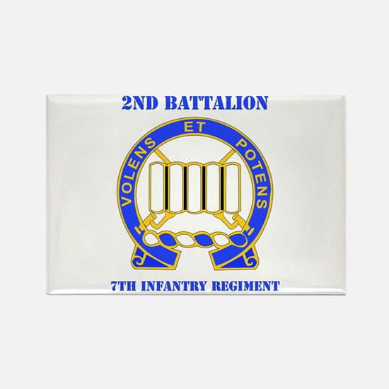DUI - 2nd Bn - 7th Infantry Regt with Text Rectang
