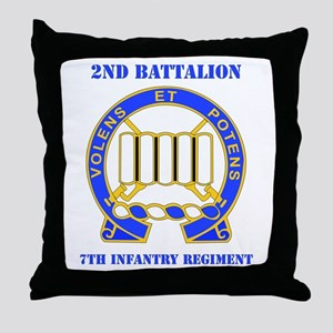 DUI - 2nd Bn - 7th Infantry Regt with Text Throw P
