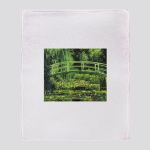 White Water Lilies by Claude Monet Throw Blanket