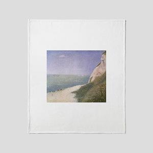 Seurat Beach at Honfleur Throw Blanket