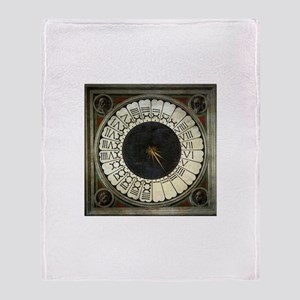 Clock in the Duomo by Uccello Throw Blanket