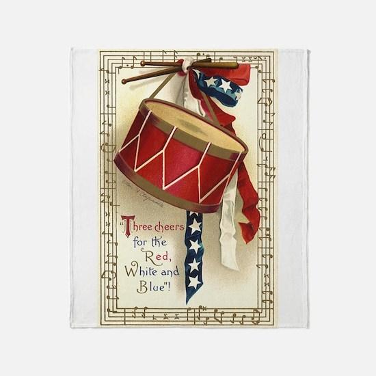 Vintage 4th of July Throw Blanket