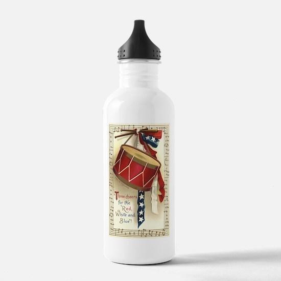 Vintage 4th of July Water Bottle