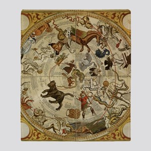 Vintage Celestial Map Throw Blanket