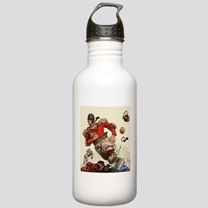 Vintage Sports Football Stainless Water Bottle 1.0