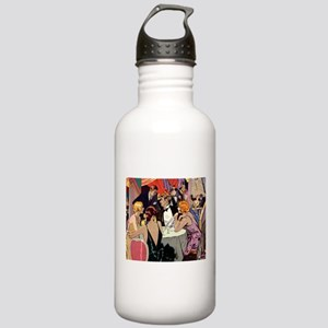 Vintage Cocktail Party Stainless Water Bottle 1.0L