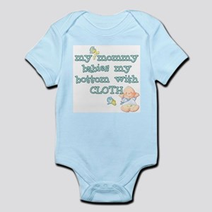 Boy Mommy Babies My Bottom Infant Creeper