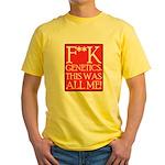 F**K Genetics Yellow T-Shirt