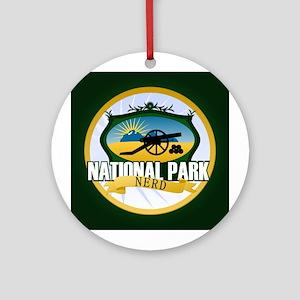 Natl Park Nerd (Ver 3) Ornament (Round)