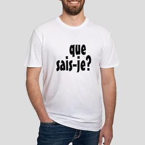 que sais-je Fitted T-Shirt