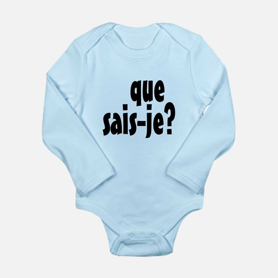 que sais-je Long Sleeve Infant Bodysuit