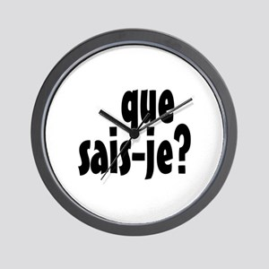 que sais-je Wall Clock