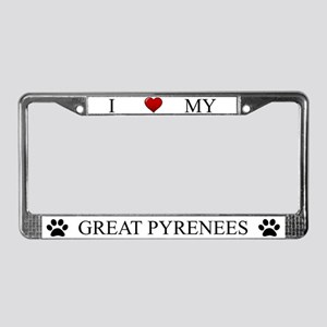 White I Love My Great Pyrenees Frame