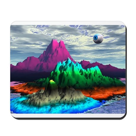 Groovy Eyeball - Check this out! Mousepad