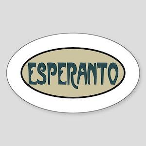 Esperanto Sticker (Oval)