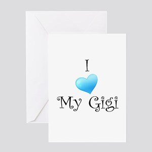 I Love Gigi Greeting Card