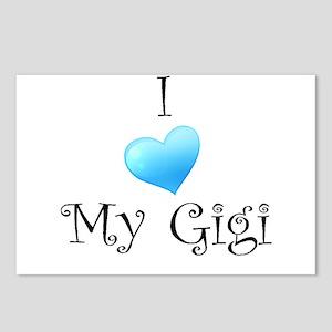 I Love Gigi Postcards (Package of 8)