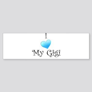 I Love Gigi Sticker (Bumper)