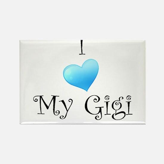 I Love Gigi Rectangle Magnet
