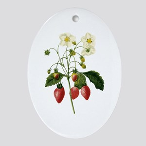 Provencal Strawberries Ornament (Oval)